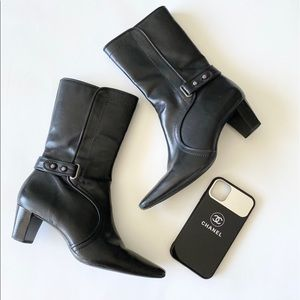 Cole Haan ✦ Calf Leather Heeled Boots ✦ Black